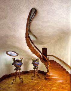 Private staircase at Casa Batlló