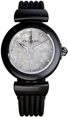 Ael Mother of Pearl Similis Dial Black Rubber Ladies Watch Product Details Product SKU : W-AE33CB173003 Diameter: 34 Mm Color: Black Band Type: Strap Watch Styl