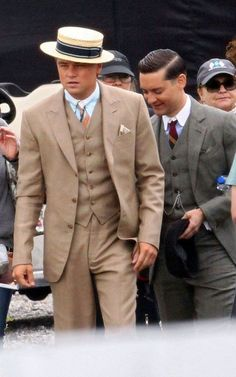 Leo and Toby as Jay Gatsby and Nick Carraway. CAN'T WAIT FOR THIS MOVIE.