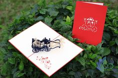 Carriage Pop-up Cards Pop Up Cards, Gifts, Art, Art Background, Presents, Kunst, Popup, Favors, Performing Arts