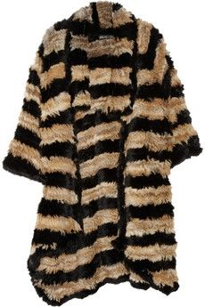 Elizabeth and James | Striped rabbit cardi-coat | NET-A-PORTER.COM - StyleSays