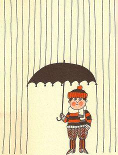 Rain illustrated by Lionel Kalish.