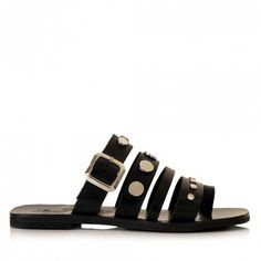 Sante παντόφλα δέρμα τρουκς μαύροαπό γνήσιο δέρμα. Μια απλή και κλασσική φλατ παντόφλα που κάνει τη διαφορά στη λεπτομέρεια της,καθώς είναι... Birkenstock Florida, Summer Shoes, Sandals, Fashion, Moda, Shoes Sandals, La Mode, Summer Sneakers, Fasion