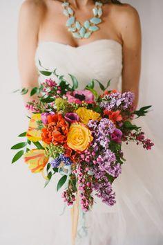bridal style, floral bouquet, photo: Paige Jones, flowers: Gertie Mae's Floral Studio #wedding #poppies #ranunculus #anemones