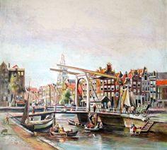 Nu in de #Catawiki veilingen: Onbekende kunstenaar - Amsterdam in 17e eeuw