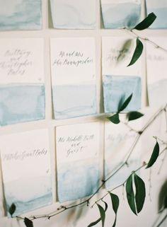 Inspire-se com estas ideias para decoração o seu casamento em tons de azul. Vai apaixonar-se por todas! Image: 17
