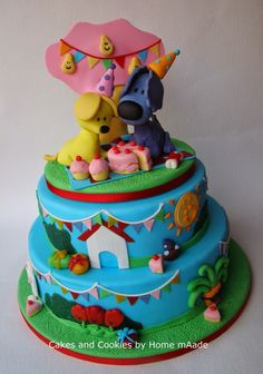 Woezel en pip taart Cupcakes, Cake Smash, Fondant, Kids And Parenting, Biscuits, Birthday Cake, Cookies, Sweet, Party