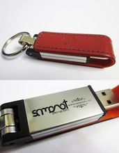 High Quality Keyring 4GB 8GB 16GB 32GB Leather USB Flash Drive with Logo Printing For Promotional Gifts Pendrive
