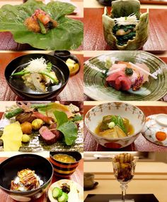 Foods of 2015  The epitome of Japanese fine dining.  taken October 2015 Trying to understand the complex menu with limited Japanese language (actually I have none except for food vocabularies) knowledge of techniques and tasting skills... 1. Cold appetizer: kurumaebi (tiger prawn) and blue crab with wakame osu (vinegar jelly) grated shiso served on imo leaf 2. Hot appetizer: soy sauce base horenzo ohitashi (steeped in dashi stock) kinoko shaved matsutake yuzu zest 3. Clear soup: prawn…