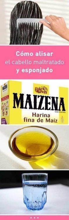 Cómo alisar el cabello maltratado y esponjado. ¡Fácil y sólo 2 ingredientes! #cabello #pelo #mascarilla #alisar #dañado #esponjado #DIY #remediocasero