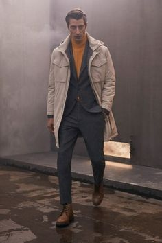 Brunello Cucinelli Fall 2020 Menswear Fashion Show - Vogue Winter Fashion Casual, Casual Fall Outfits, Autumn Outfits, Casual Winter, Simple Outfits, Winter Style, Blazers For Men Casual, Mens Fall, Vogue Russia