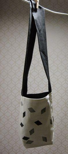 Cinq,  sérigraphie sur tissus  / diy  /  trousses / sacs / corbeilles  / accessoires: Sac et corbeilles
