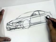 Drawing BMW Cars with a Brush Pen