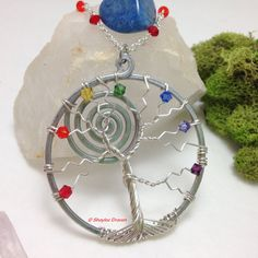 chakra necklace chakra jewelry tree of life by MagicalMayhem13