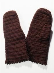 Nalbound mittens, Lahti, Southern Finland. Made in 1960-2005. Length 26 cm, width 14.5 cm.