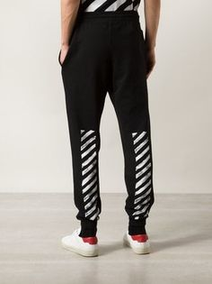 Off-White Striped Track Pants - Farfetch Off White Pants, Pajama Pants, Pajamas, Sweatpants, Track, Diy, Fashion, Sleep Pants, Pjs