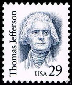 US Stamp - Thomas Jefferson, 3rd US President 1801-1809