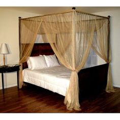 Bed Canopy Mosquito Net Set W Frame Pole For Queen Full Garden Pinterest And Bedrooms