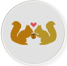 FREE for May 18th 2014 Only - Squirrel Love Cross Stitch Pattern