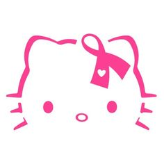 Hello Kitty breast cancer awareness Vinyl decal on Etsy, $3.49