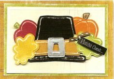 Donna's Fall Card.  Lasting Impressions' Template.