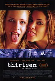 Directed by Catherine Hardwicke. With Evan Rachel Wood, Holly Hunter, Nikki Reed. A thirteen-year-old girl's relationship with her mother is put to the test as she discovers drugs, sex, and petty crime in the company of her cool but troubled best friend. Films Hd, Hd Movies, Movies To Watch, Movies Online, Movies And Tv Shows, Movie Tv, Film Watch, Teen Movies, Movies Free