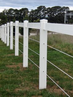 PVC Fence Line #fencing #pvcfencing