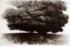 Sotto l'albero, acquaforte puntasecca, 70x100 cm, 1992
