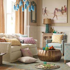 Custom Slipcovered Spruce Street Sofa in Designer Fabrics//