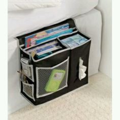 bedside organizer- especially good for a dorm room.  Keeps phone, glasses, scriptures, etc. close by your bedside and organized so they don't get lost
