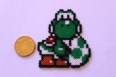 Yoshi hama perler beads by zuliepoulpy Hama Beads, Fuse Beads, Yoshi, Pearler Bead Patterns, Perler Patterns, Super Mario, Art Hama, Minecraft Beads, Perler Bead Mario