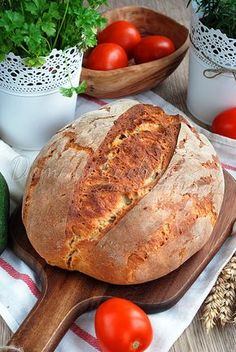 Delikatny chleb pszenny na zakwasie | Domi w kuchni Pan Bread, Bread Baking, Bread Recipes, Cooking Recipes, Polish Recipes, Bread Rolls, Holiday Desserts, Food To Make, Food And Drink
