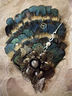 Amazing mix of vintage and new style Hair clip steampunk style