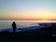 Sherkston Shores sunset Feb 20, 2012