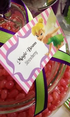 """This magical  TINKERBELL THEMED BIRTHDAY PARTY was sent in by Sugar Mamas Candy Buffets      Here is what Renee said about this event   """"We created a magical Tinkerbell themed Candy/Dessert Buffet and Beauty Salon for 20 little fairies. We went with a green, purple &pink party suppliesscheme, and dressed the table with a gorgeous purple table skirt. Each lolly/chocolate was labelled in fairy language (Fairy teeth, Fairy dust, magic beans, fairy pebbles, fairy wands, pixie po..."""