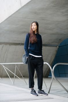 Street style: Park Hee Hyun at Seoul Fashion Week Spring 2015 shot by Alex Finch