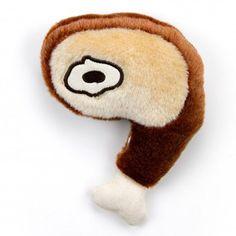 Brinquedo para Cães Deliciosa Coxa de Galinha de Pelúcia Tasty Drum Stick Marrom Afp - MeuAmigoPet.com.br #petshop #cachorro #cão #meuamigopet