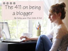 How To Be A Better Blogger - blogging tips from Poor Little It Girl