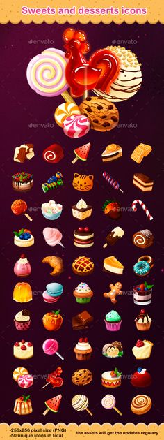 Sweets and Desserts Icons on Behance