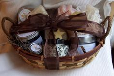 Gift Basket Soap Body Butter Lip Balm Soy Candle