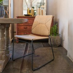 The Jules Dining Chair is suitable for use outdoors or indoors and is weather resistant. Dimensions: W: D: H: Seat H: The manufacturer uses ECOLENE®, a polyethylene s… Side Chairs, Dining Chairs, Outdoor Dining, Corner Desk, Wicker, Indoor, Outdoor Furniture, House, Design