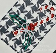 Quick DIY Buffalo Check Simple Handmade Christmas Cards: Stampin' Up! Trendy Minimalistic Cup of Cheer Glittery card using Stamparatus with Video Tutorial. Fall Projects, Christmas Projects, Christmas Music, Christmas Cards, Thank You Gifts, Handmade Christmas, Candy Cane, I Card, Stampin Up