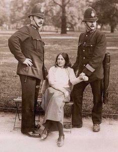 A suffragette arrested, London, 1910