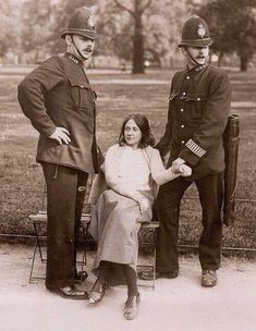 A suffragette arrested, London, 1910