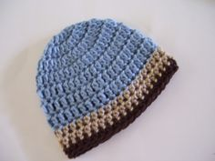 Easy Crochet Baby Boy Hats | ... been designed in such new and creative ways. These beanie crochet hats