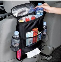 Car Seat Organizer Auto Back Holder Multi-Pocket Travel Storage Bag Hanger Black Boot Organization, Travel Organization, Organization Ideas, Sac Lunch, Lunch Bags, Car Cooler, Food Cooler, Picnic Cooler, Truck Accessories