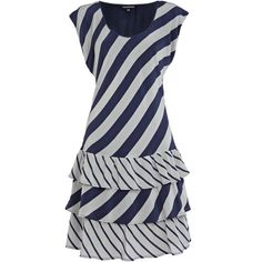 drop waist stripe dress ($40) via Polyvore
