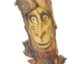 Twisted Wood Carving, Unique Hand Carved Wood Sculpture, Handmade Woodworking Gift by Josh Carte, Wall Art Decor, Wood Spirit Wood Carving - pinned by pin4etsy.com