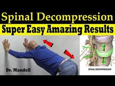 Spinal Decompression Made Super Easy With Amazing Results - Dr Alan Mandell, DC Back Relief, Lower Back Pain Relief, Neck Pain Relief, Sciatica Exercises, Back Pain Exercises, Stretching Exercises, Stretches, Decompress Spine, Spinal Decompression