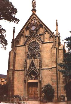 "Loretto Chapel, Santa Fe NM. Inside is the ""Miraculous Spiral Staircase."" (c) Richard Bauman"